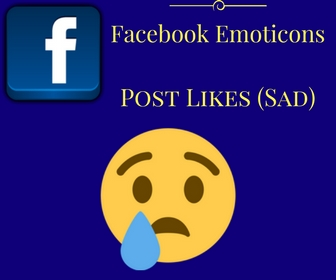 Facebook Emoticons Post Likes (Sad)