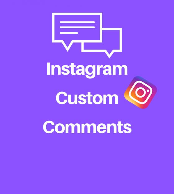 Buy Instagram Custom Comments